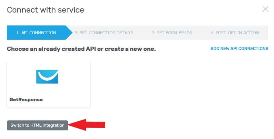 utiliser l'intégration html sur un popup thive leads