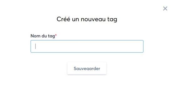Créé un nouveau tag avec systeme.io