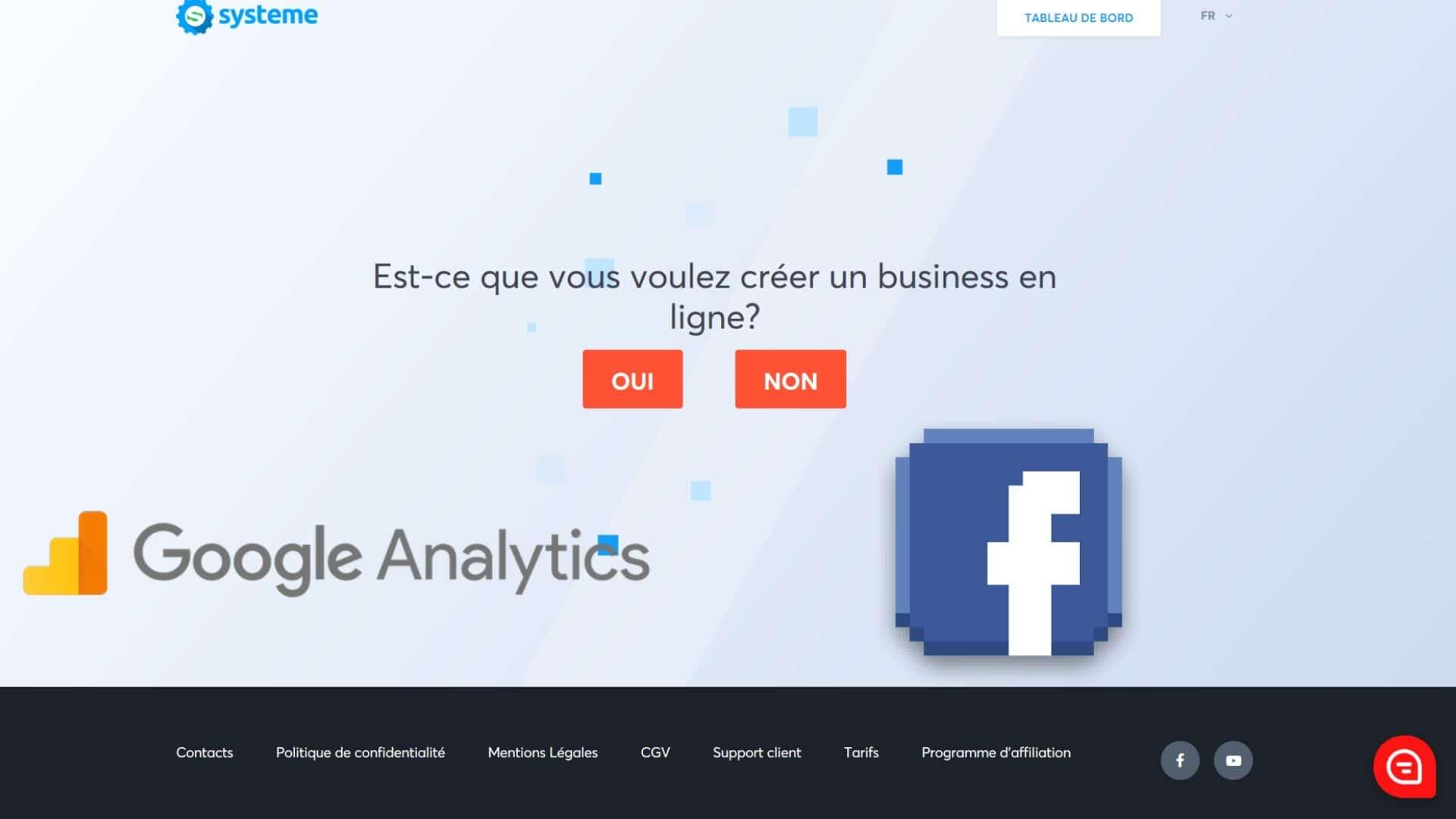 Systeme.io Google Pixel Facebook