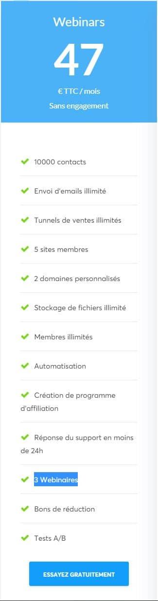 Systeme Io Offre Webinars