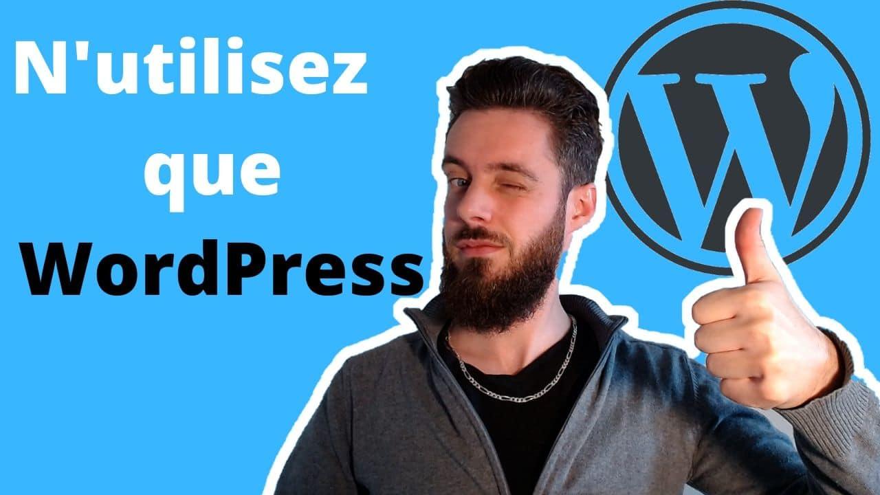 N'utilisez Que Wordpress