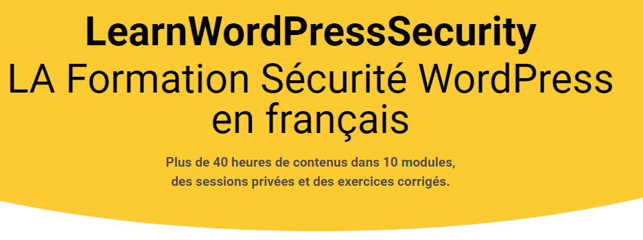 learnwpsecurity formation sécurité WordPress