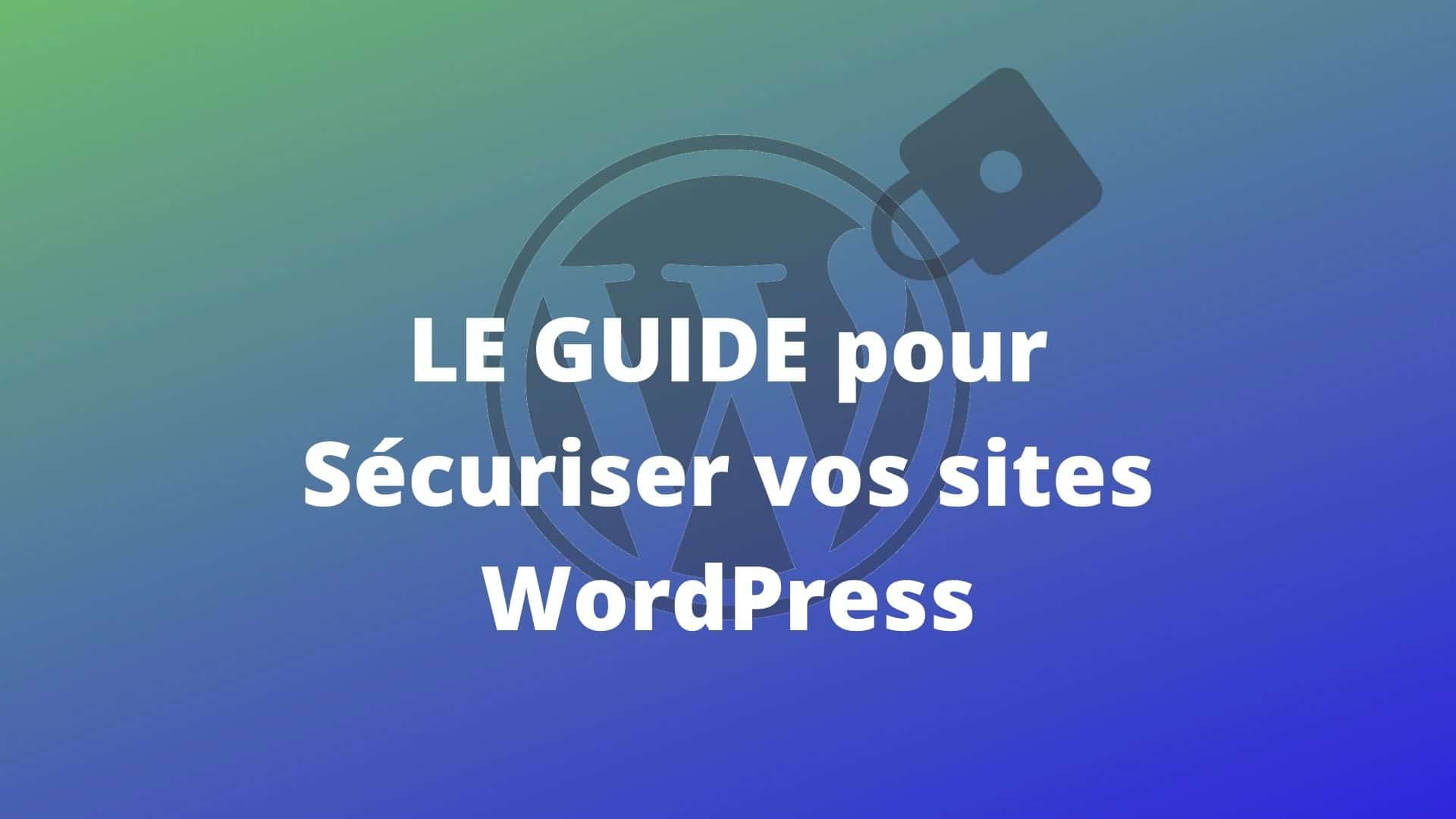 Securisez Site WordPress